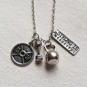 Jewelry - NEW Motivational Mantra Fitness Necklace